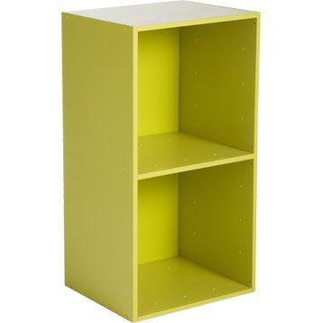 Etagère 2 cases MULTIKAZ, vert H.69.2 x l.35.2 x P.31.7 cm