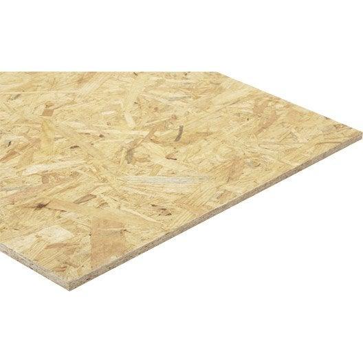 Panneau osb 3 3 plis épicéa naturel, Ep.12 mm x L.250 x l.125 cm