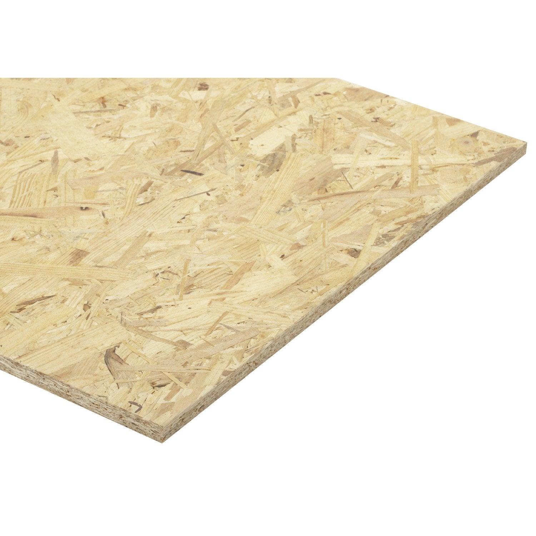 Audacieux Panneau osb 3 3 plis épicéa naturel, Ep.15 mm x L.250 x l.125 cm VD-88