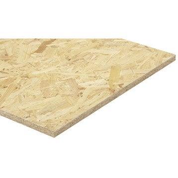 Panneau osb 3 3 plis épicéa naturel, Ep.18 mm x L.250 x l.125 cm