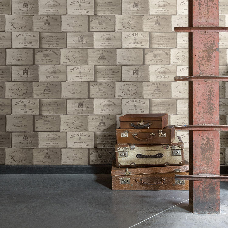 papier peint intiss exposed marron leroy merlin. Black Bedroom Furniture Sets. Home Design Ideas