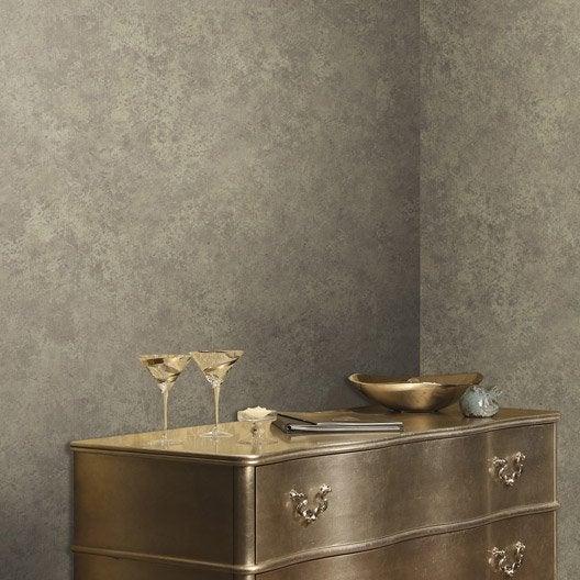 Papier peint intiss brique marbre taupe leroy merlin - Papier peint brique relief ...