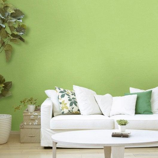 Papier peint intissé Lisse mat vert botanique n°4