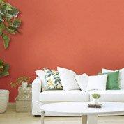 Papier peint intissé Lisse mat orange