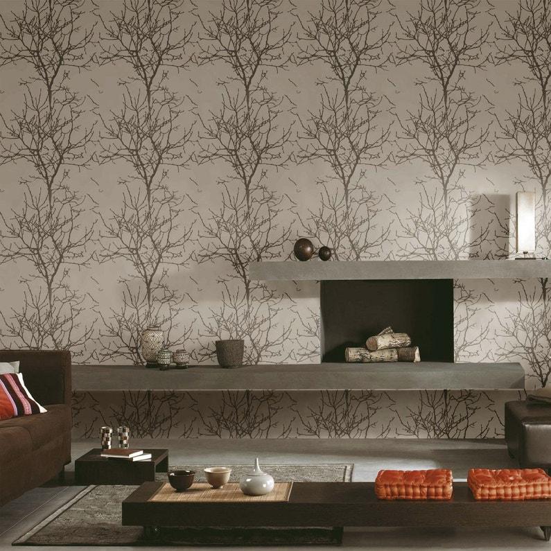 Un papier peint motif arbres leroy merlin - Papier peint motif arbres ...