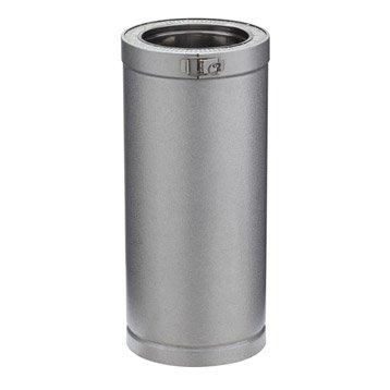 Tuyau pour conduit double paroi POUJOULAT, D150 mm 0.45 m Ep.30 mm