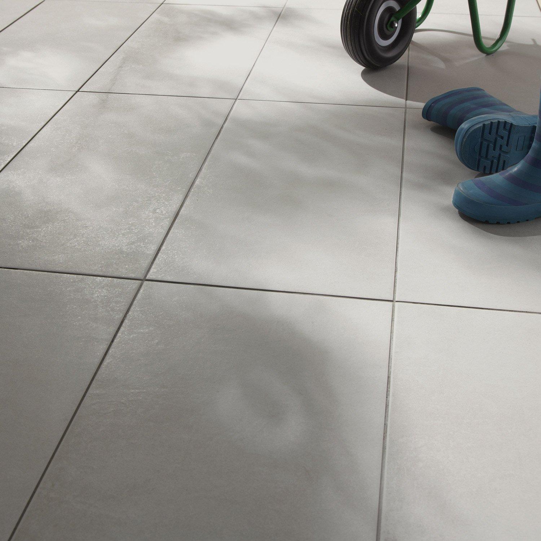 carrelage sol gris min ral effet b ton lune x cm leroy merlin. Black Bedroom Furniture Sets. Home Design Ideas