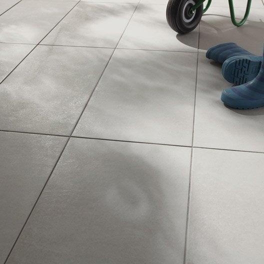 Carrelage gris minéral effet béton Lune l.30 x L.60 cm