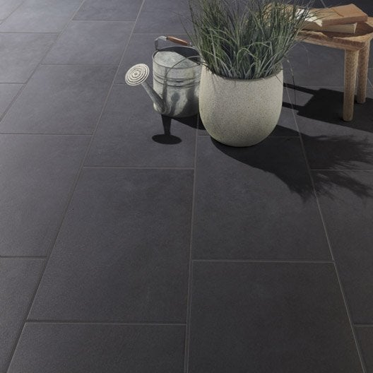 Carrelage ext rieur carrelage pour terrasse leroy merlin for Carrelage sol gris anthracite