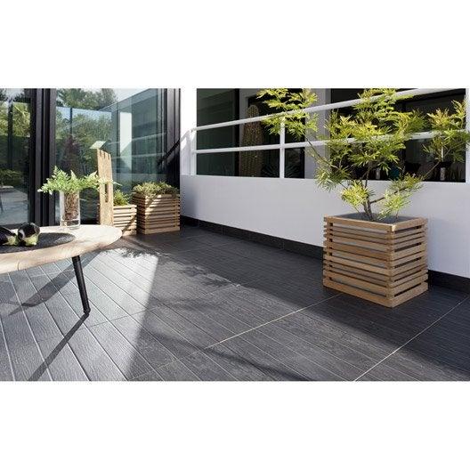 carrelage bronze effet bois teak x cm leroy merlin. Black Bedroom Furniture Sets. Home Design Ideas