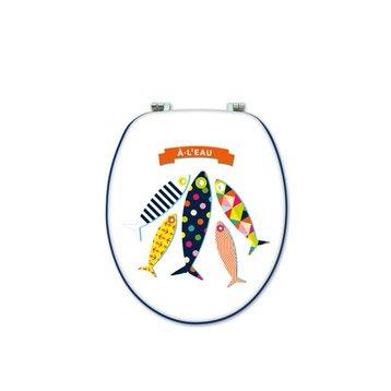 Abattant multicolore Fish