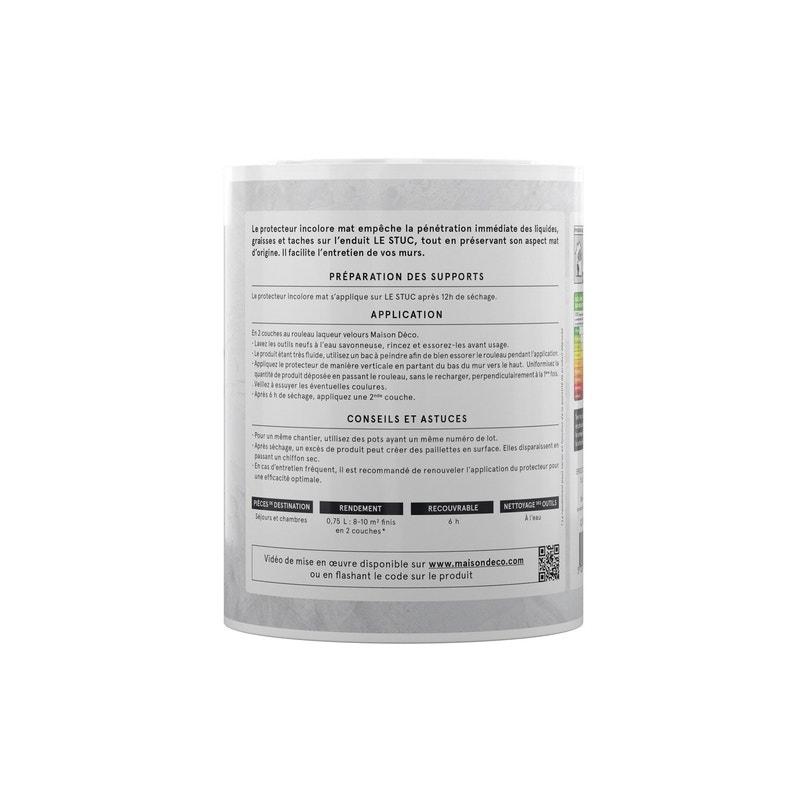 Peinture à Effet Protecteur Incolore Mat Le Stuc Maison Deco Incolore 075 L