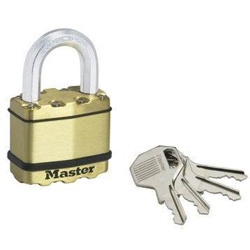 Cadenas à clé MASTERLOCK acier laminé, l.45 mm