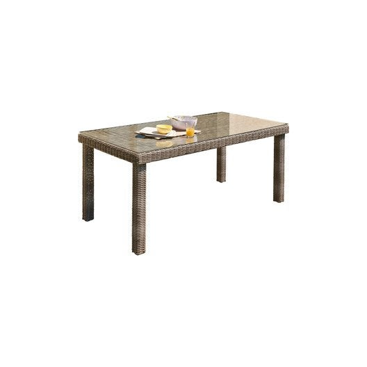 table de jardin elegance rectangulaire gris 6 personnes leroy merlin. Black Bedroom Furniture Sets. Home Design Ideas
