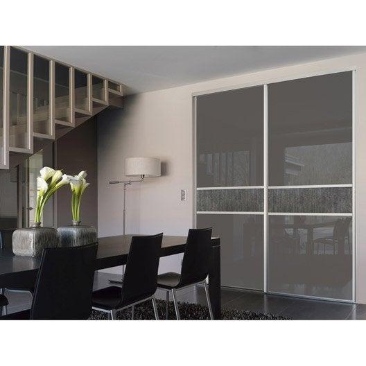 porte de placard coulissante sur mesure optimum piano de 100 1 120 cm leroy merlin. Black Bedroom Furniture Sets. Home Design Ideas