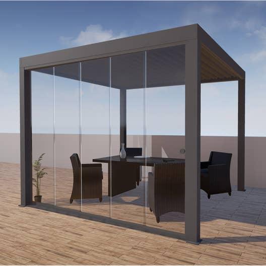 paroi vitr e pour tonnelle autoportante orient aluminium. Black Bedroom Furniture Sets. Home Design Ideas