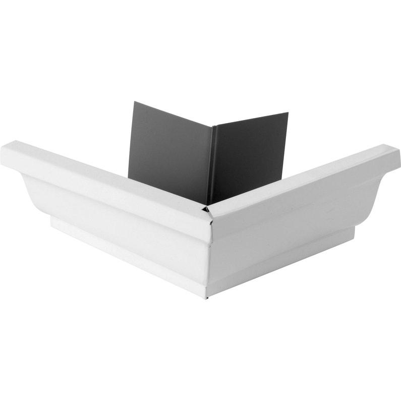 Angle Extérieur Pour Gouttière Aluminium Blanc Scover Plus