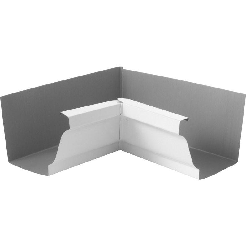 Angle Intérieur Pour Gouttière Aluminium Blanc Lmc Virano Dév30 Cm