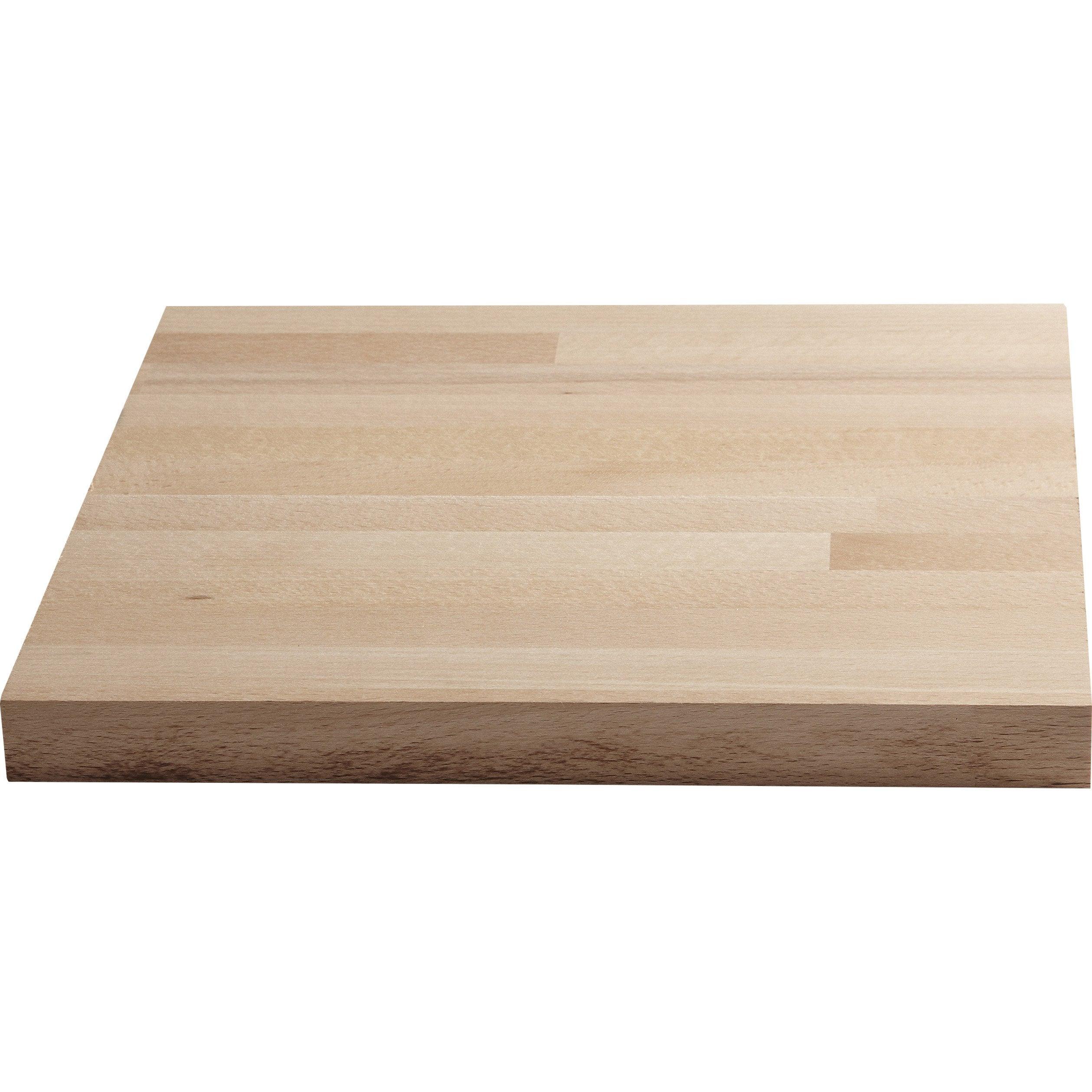 Plan de travail bois Hêtre brut Mat L.250 x P.65 cm, Ep.26 mm