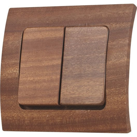 double interrupteur va et vient alisia modul design bois. Black Bedroom Furniture Sets. Home Design Ideas