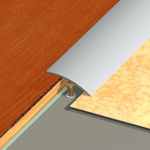 barre de seuil multi niveaux aspect inox dinac gris 2 7. Black Bedroom Furniture Sets. Home Design Ideas