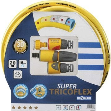 Tuyau d'arrosage equipé TRICOFLEX Supertricoflex L.20 m Diam.14.8 mm
