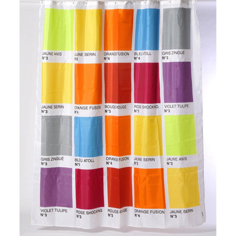 Rideau De Douche En Tissu L 180 X H 200 Cm Rose Shocking N 3 Color
