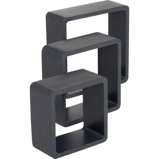 Etag re 3 cubes noir noir n 0 spaceo x cm for Cube leroy merlin
