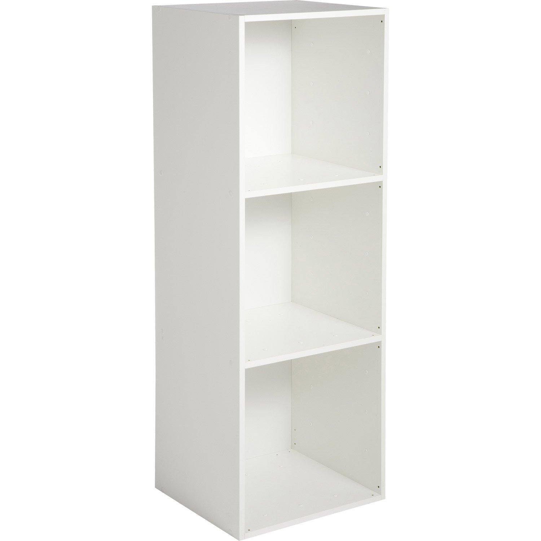Etagère 3 cases MULTIKAZ, blanc H.103.2 x l.35.2 x P.31.7 cm | Leroy ...