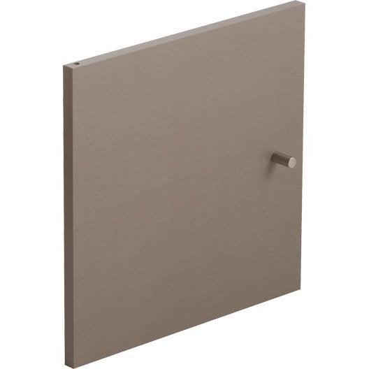 Porte multikaz taupe x x p 1 5 cm leroy for Porte 53 cm