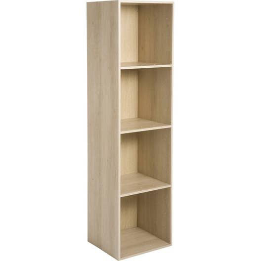 etag re 4 cases multikaz effet ch ne x x cm leroy merlin. Black Bedroom Furniture Sets. Home Design Ideas