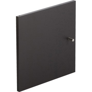 Porte MULTIKAZ, noir H.32.2 x l.32.2 x P.1.5 cm