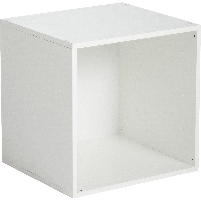 Etagère 1 case MULTIKAZ, blanc H.35.2 x l.35.2 x P.31.7 cm | Leroy