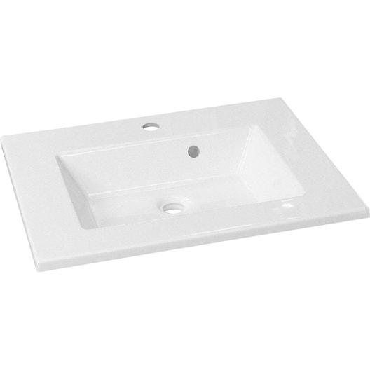 Plan Vasque 1 Robinet Resine 100 Cm : Plan vasque simple modern résine de synthèse cm leroy