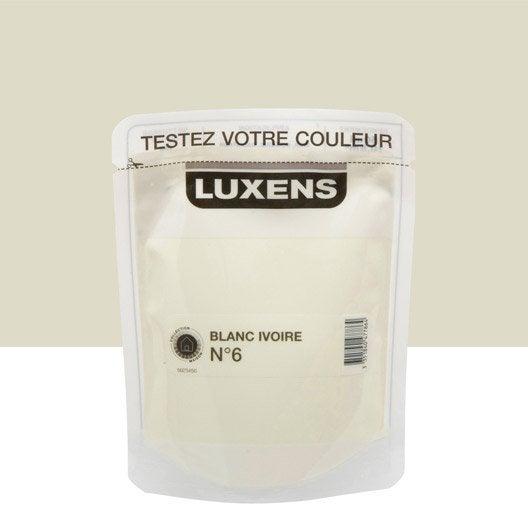 Testeur peinture blanc ivoire 6 luxens couleurs int rieures satin l le - Peinture blanc ivoire ...