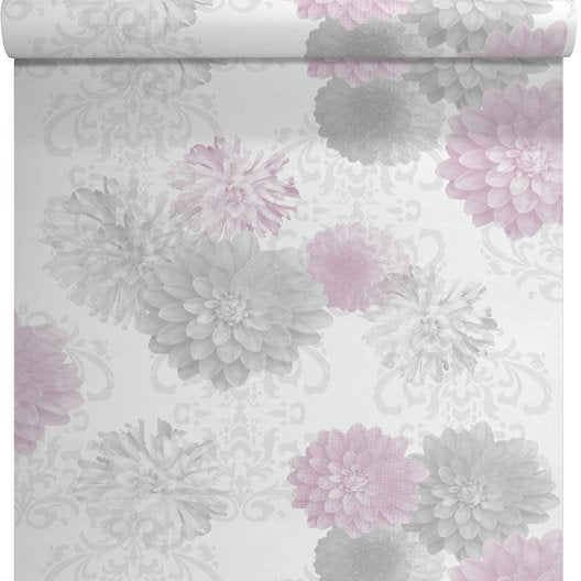 Papier peint expans sur intiss rimbaud rose larg - Mettre du papier peint sur du papier peint ...