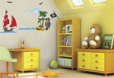 Stickers pirate pour chambre d'enfant