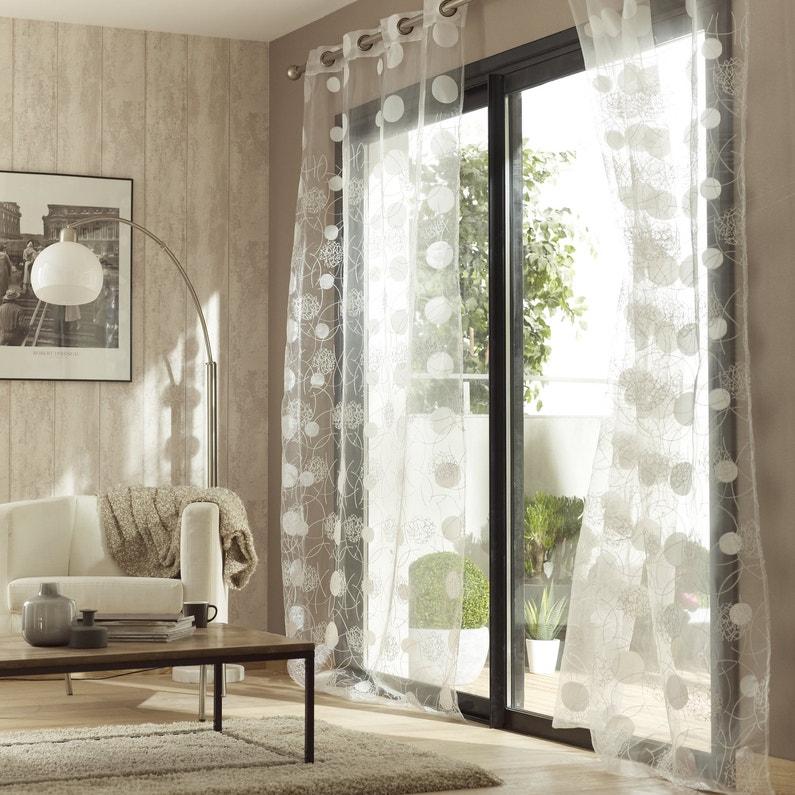 des voilages avec des formes g om triques pour habiller les fen tres leroy merlin. Black Bedroom Furniture Sets. Home Design Ideas