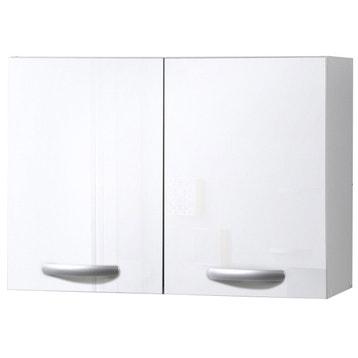 Meuble De Cuisine Haut 2 Portes Blanc Brillant H579x L
