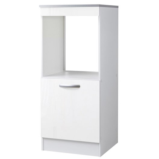 meuble de cuisine 1 2 colonne four 1 porte blanc brillant h140 4 x l60 x p60cm leroy merlin. Black Bedroom Furniture Sets. Home Design Ideas
