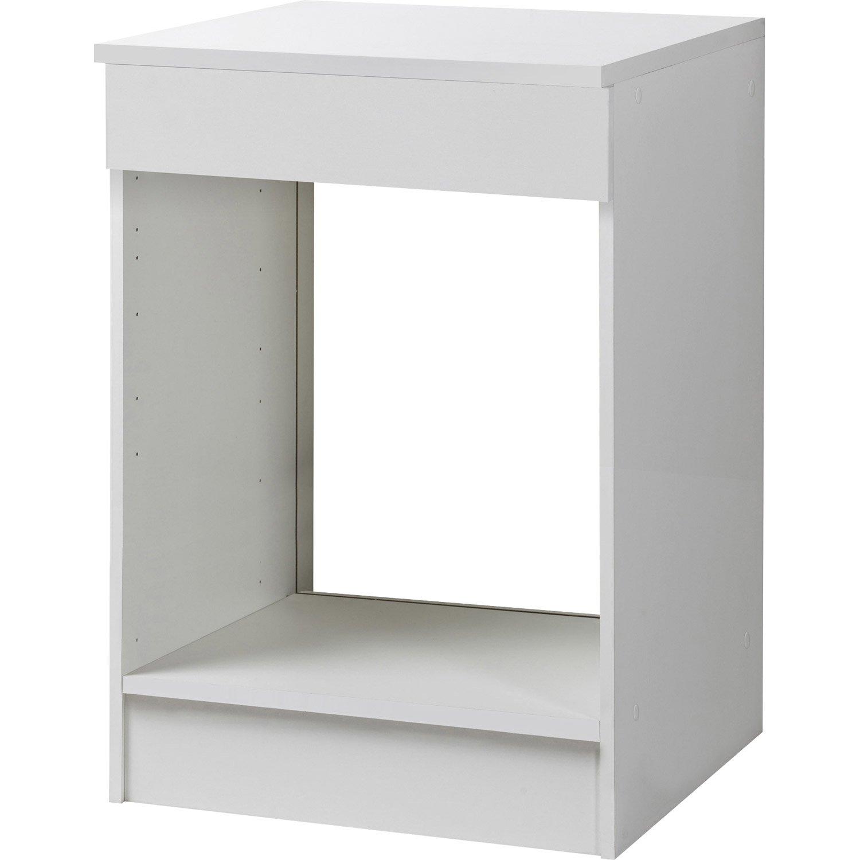 meuble de cuisine bas four blanc h86x l60x p60cm