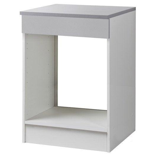 meuble de cuisine bas four gris aluminium h86x l60x p60cm leroy merlin. Black Bedroom Furniture Sets. Home Design Ideas