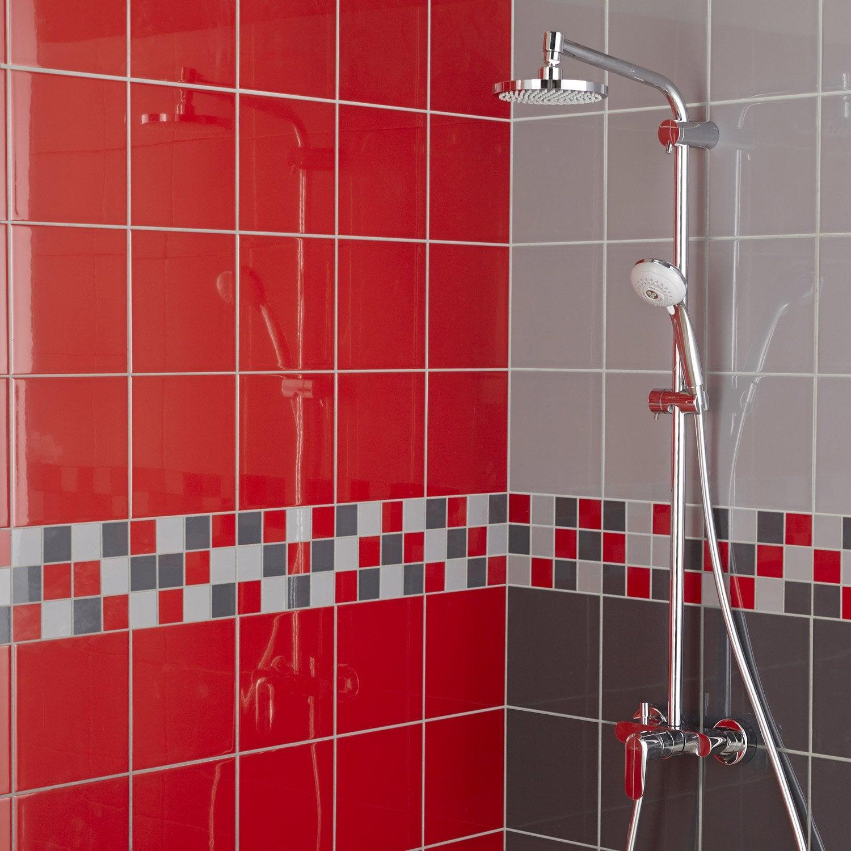 Faïence mur rouge rouge, Astuce l.20 x L.20 cm | Leroy Merlin