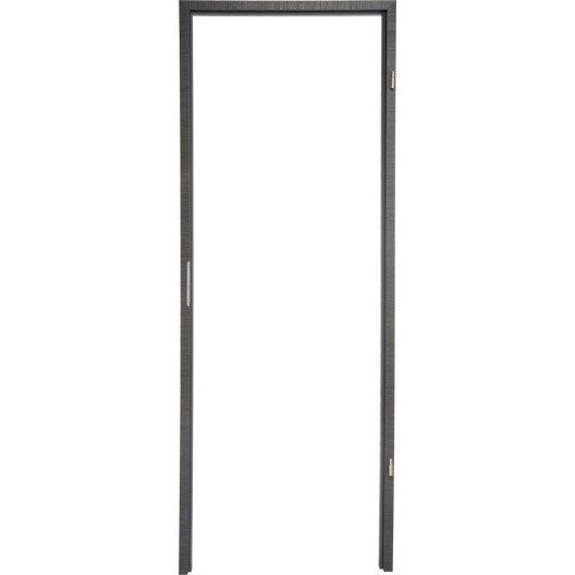 Bâti pour porte londres 63 cm, poussant droit décor chêne grisé