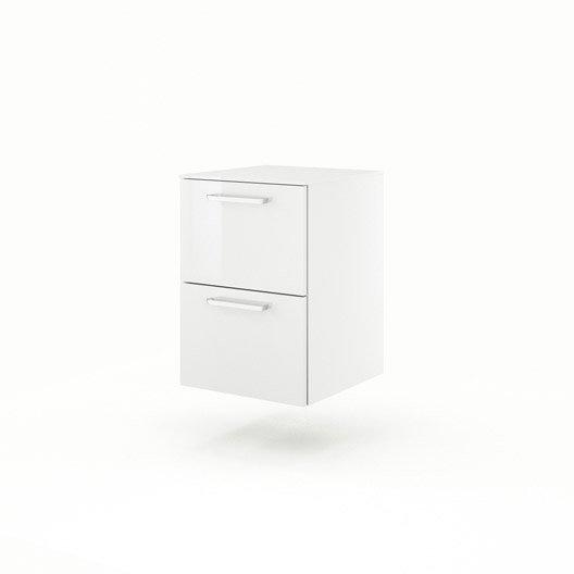 meuble bas x x cm blanc neo line leroy merlin. Black Bedroom Furniture Sets. Home Design Ideas