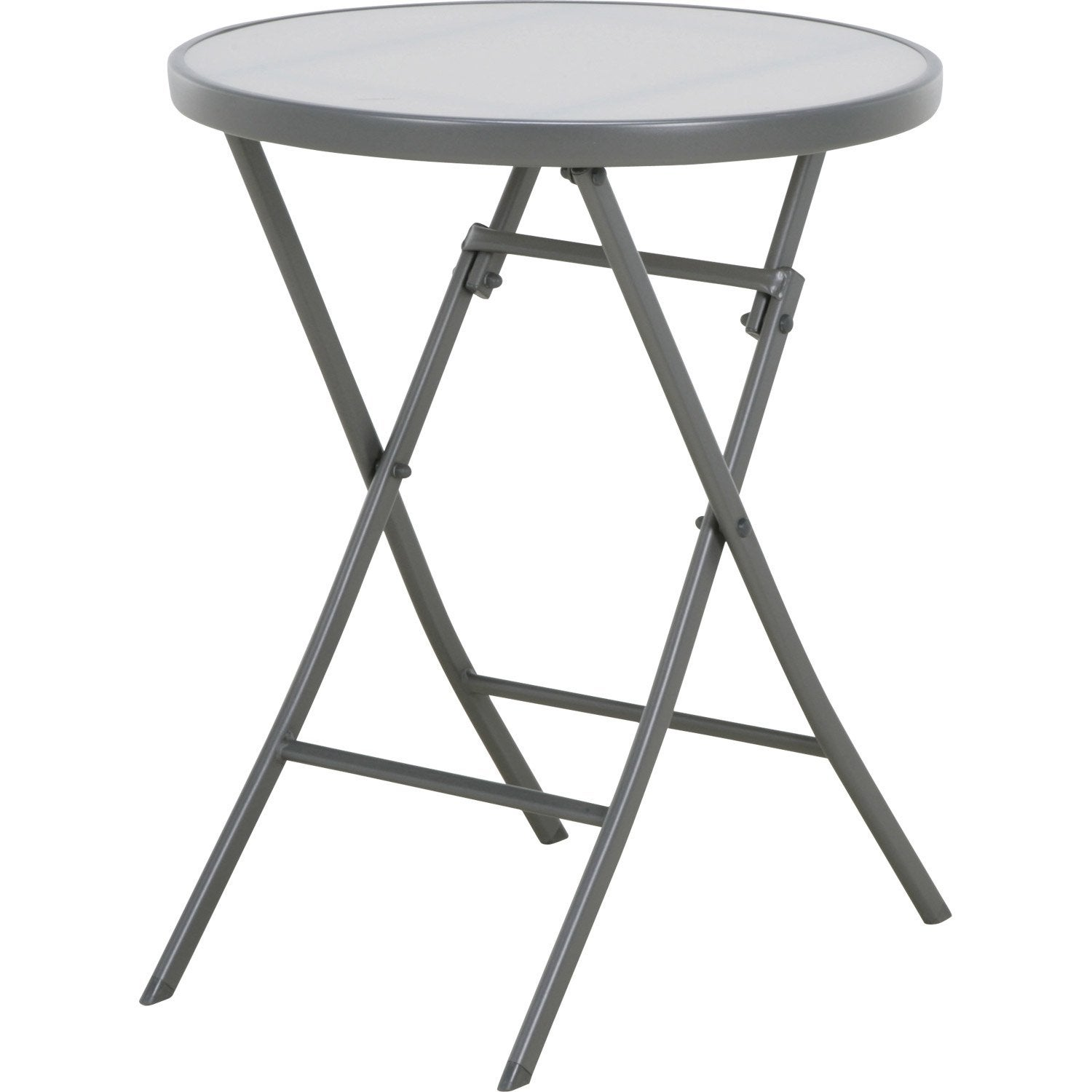 Table de jardin naterial denver ronde gris 2 personnes for Table 5 personnes