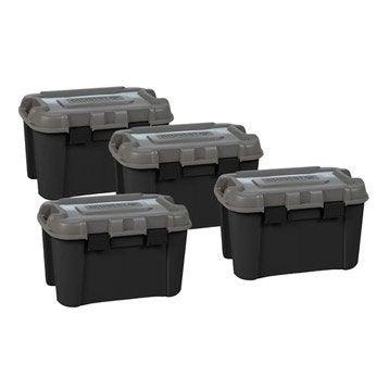 Lot de malles Totem plastique , l.60 x P.40 x H.37 cm