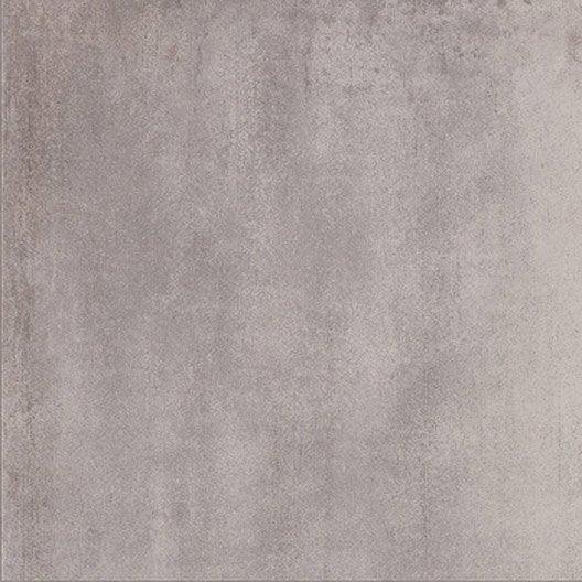 Carrelage sol gris clair effet b ton city x cm for Carrelage effet beton gris