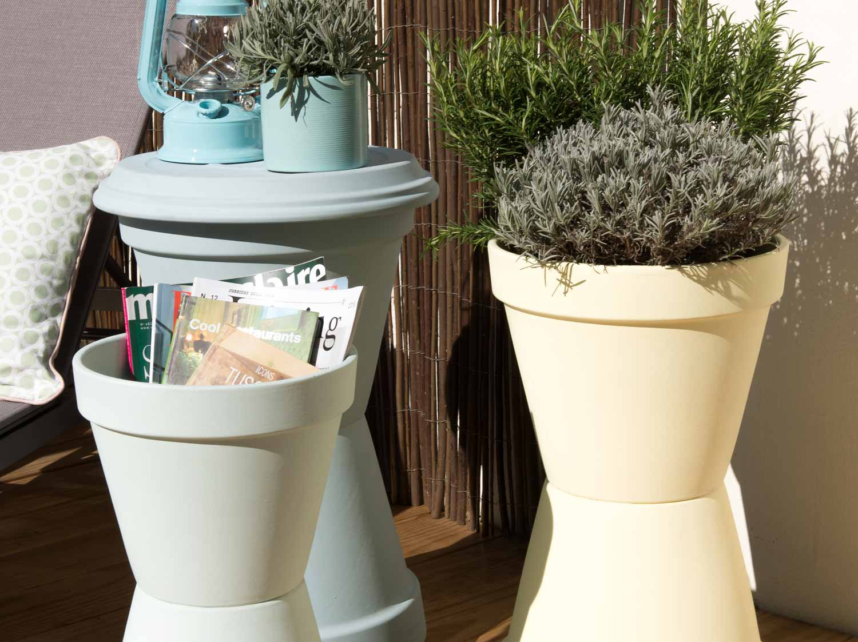 Diy cr er des rangements avec des pots en terre cuite leroy merlin - Pot de peinture prix ...