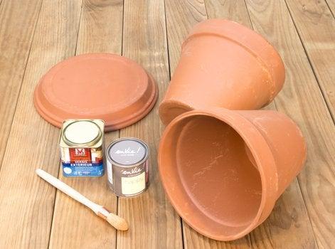 diy cr er des rangements avec des pots en terre cuite. Black Bedroom Furniture Sets. Home Design Ideas